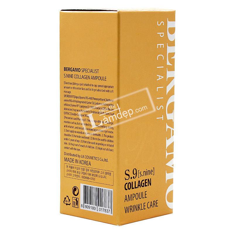 Tinh Chất Collagen Ampoulo Bergamo S9 (30ml)