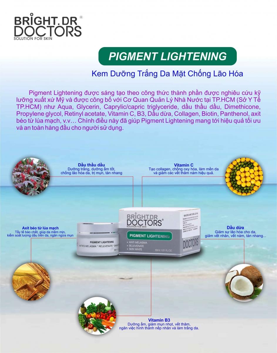 Kem Dưỡng Trắng Da, Chống Lão Hóa Ban Đêm Bright.Dr Doctors Pigment Lightening