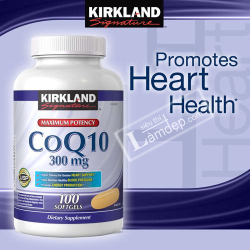 Hỗ Trợ Tim Mạch Kirkland Signature Coenzyme Q10 (CoQ10) 300mg (100 Viên)
