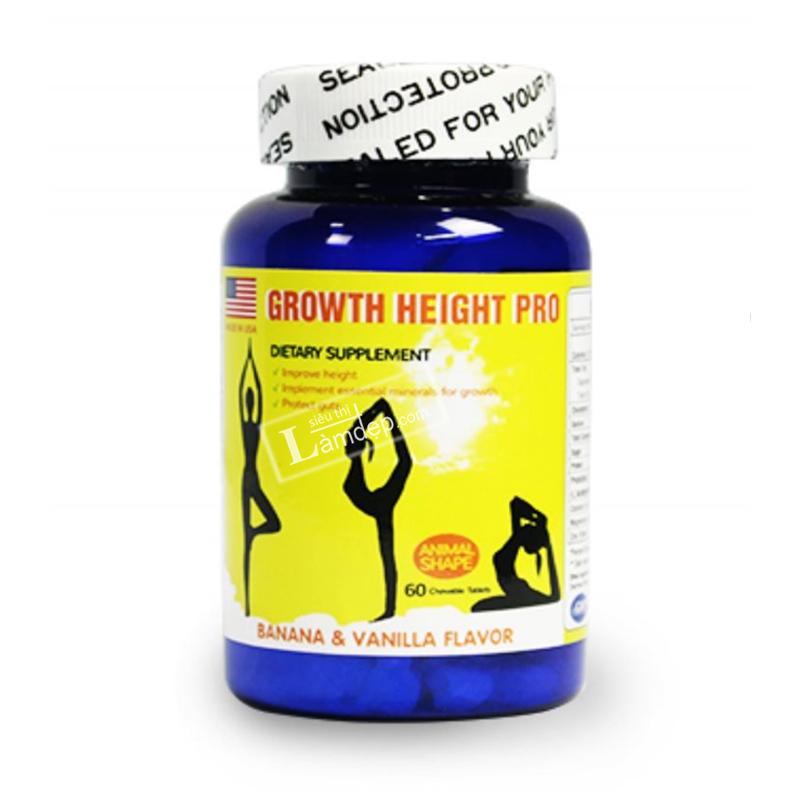 Kết quả hình ảnh cho Growth Height Pro - Viên Uống Tăng Chiều Cao Của Mỹ