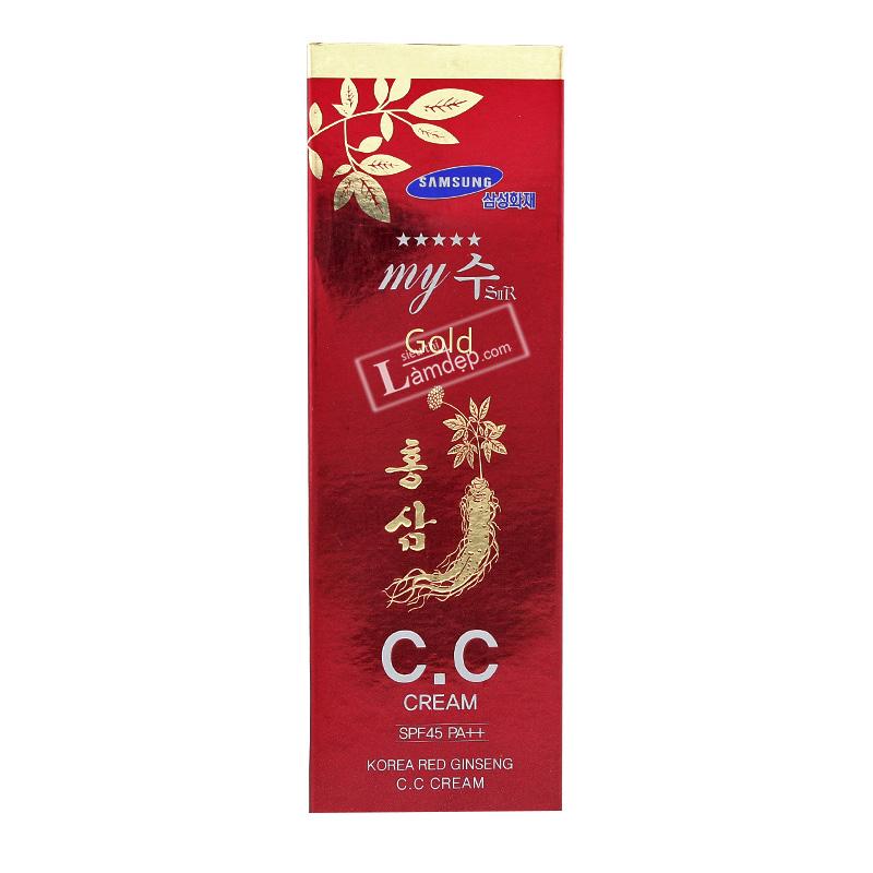 CC Cream My Gold Sâm Đỏ Hàn Quốc