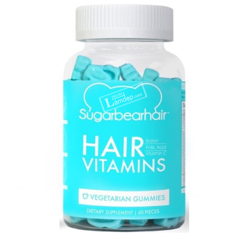 Kẹo Dẻo Bổ Sung Bổ Sung Vitamin Kích Thích Mọc Tóc Hair Vitamins Sugarbearhair