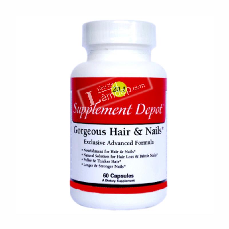 Viên Uống Chống Rụng Tóc, Giúp Mọc Tóc Và Dày Hơn Gorgeous Hair 20.1