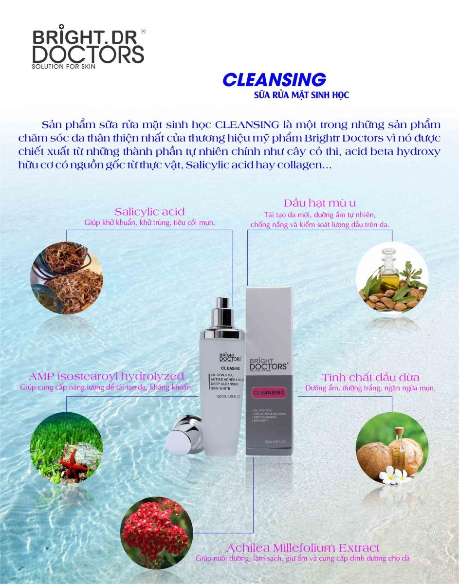 Làm Sạch Da Với Sữa Rửa Mặt Cleansing