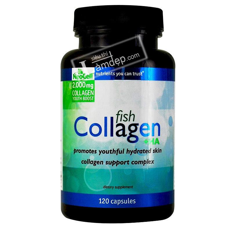 Viên Uống Chống Lão Hóa Neocell Fish Collagen + HA 120 Viên
