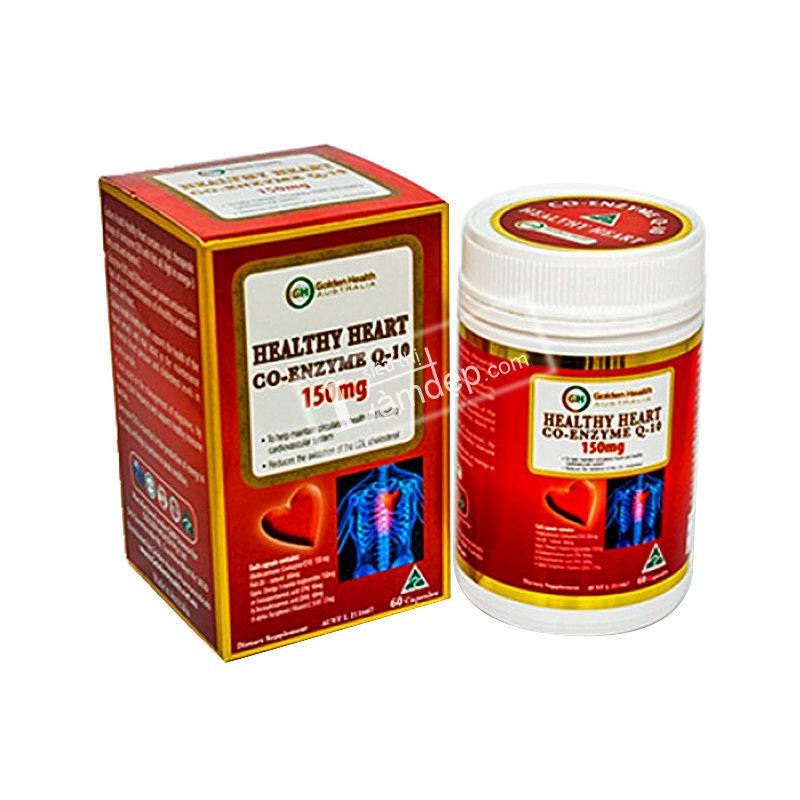 Viên Uống Hỗ Trợ Tim Mạch Golden Health Healthy Heart Co-Enzyme Q-10 (150mg x 60 viên)