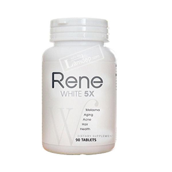 Viên Uống Trắng Da Rene White 5X