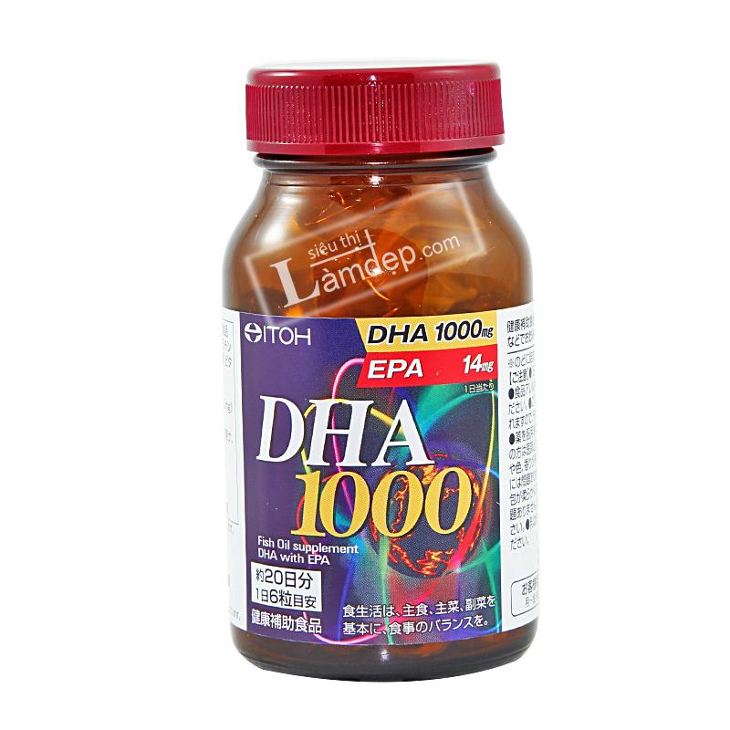 Viên Uống Bổ Não DHA & EPA Nhật Bản (1000mg x 120 viên)