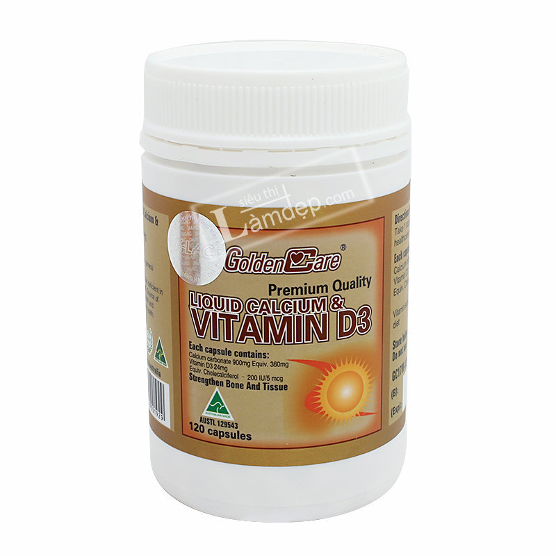 Golden Care Liquid Calcium & Vitamin D3 120 Viên