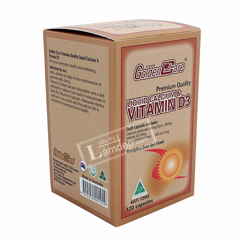 Golden Care Liquid Calcium & Vitamin D3 120 Viên