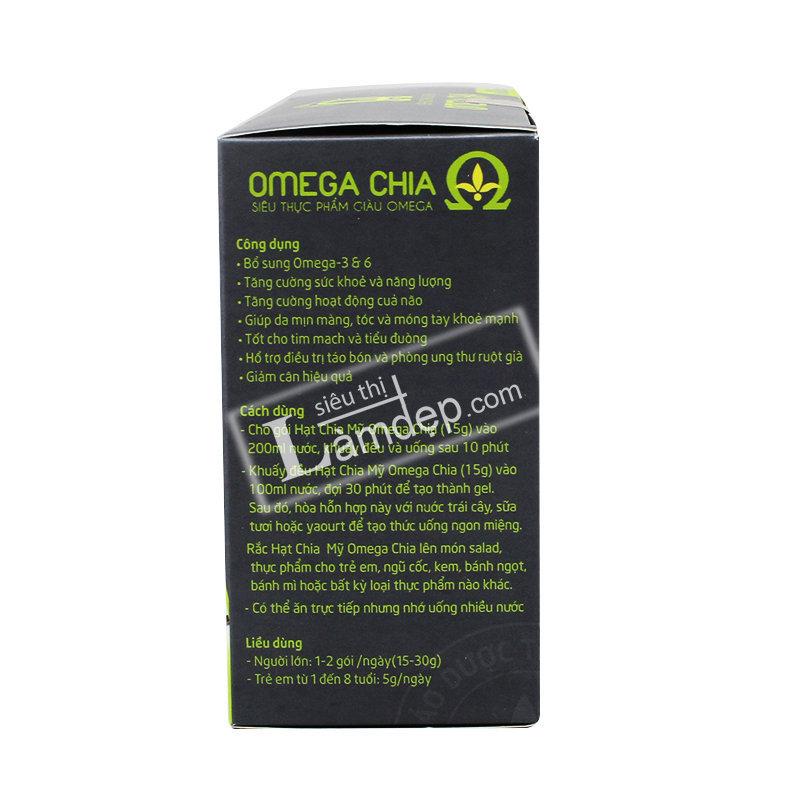 Hạt Chia Mỹ Omega Chia ( 10 gói x 15gr)