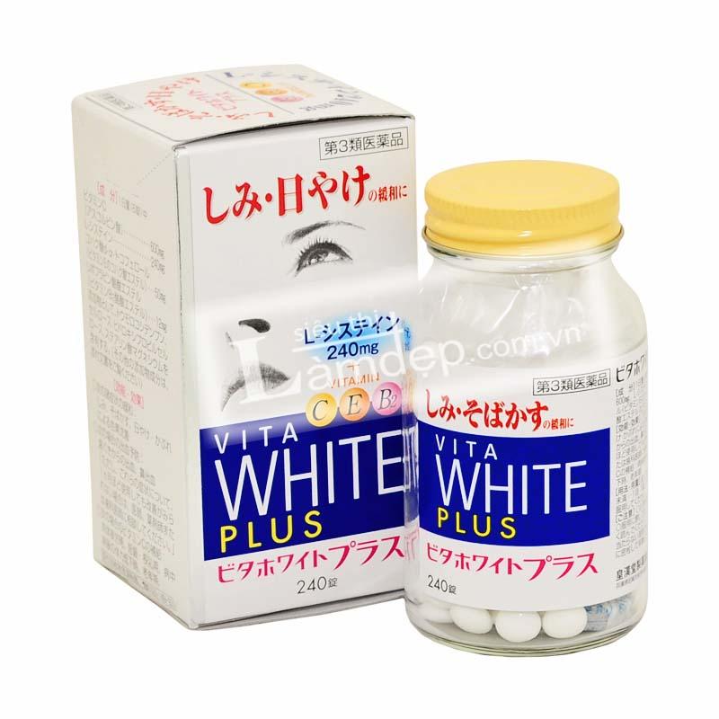VITA WHITE PLUS - Viên Trị Nám Làm Trắng Da Của Nhật Bản