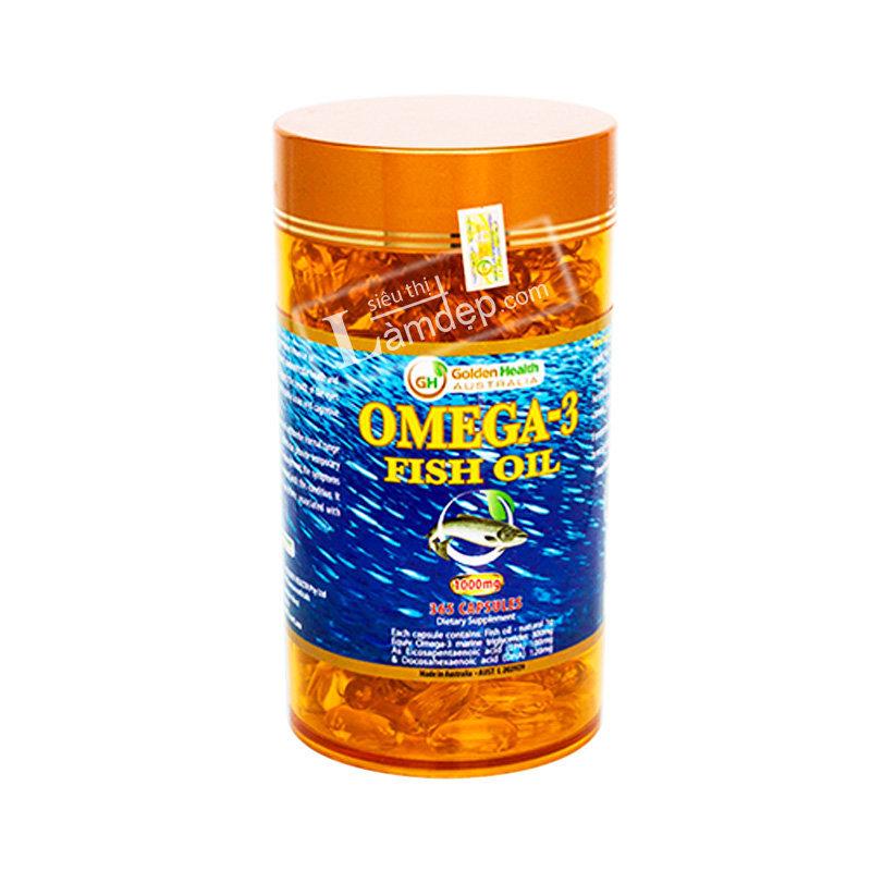 Viên Dầu Cá Omega 3 Fish Oil Golden Health (1000mg x 365 Viên)