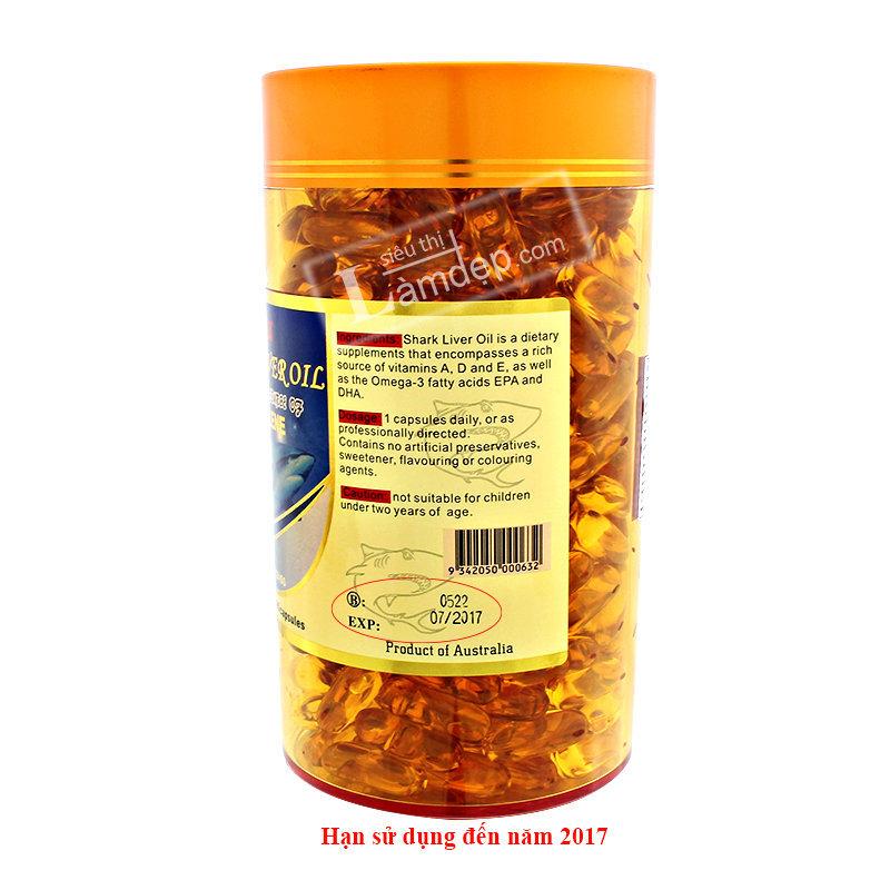 Viên Dầu Cá Shark Liver Oil ( 1000 mg x 356 Viên)