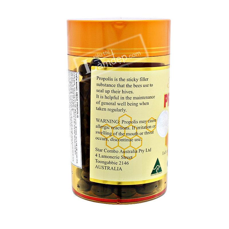 Viên Uống Sáp Ong Amax Propolis ( 500mg x 200 Viên)