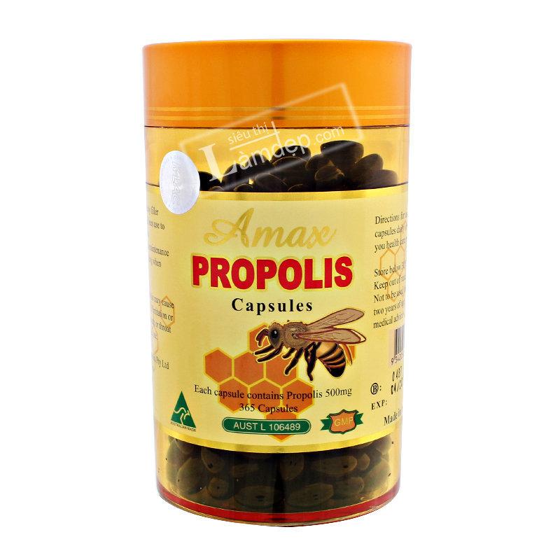 Viên Uống Sáp Ong Amax Propolis ( 500mg x 365 Viên)