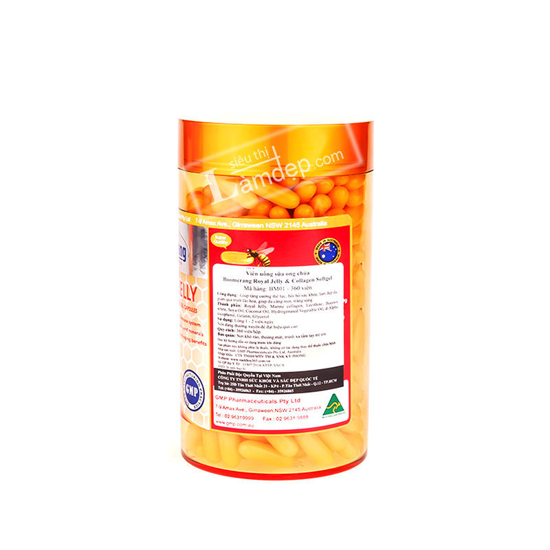 Sữa Ong Chúa Boomerang & Collagen Royal Jelly (1400mg x 120 Viên)